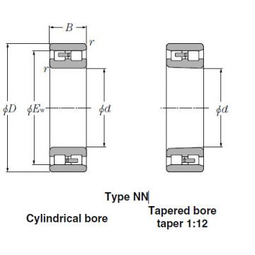 Bearings Tapered Roller Bearings NN3034K