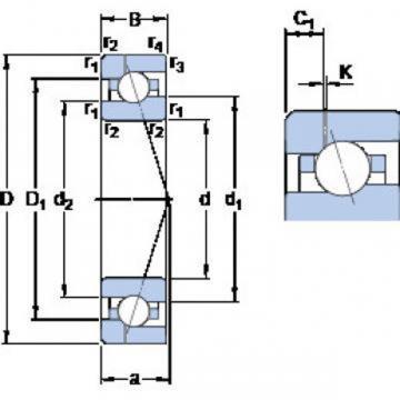 SKF 727 ACD/P4A Angular contact ball bearings, super-precision