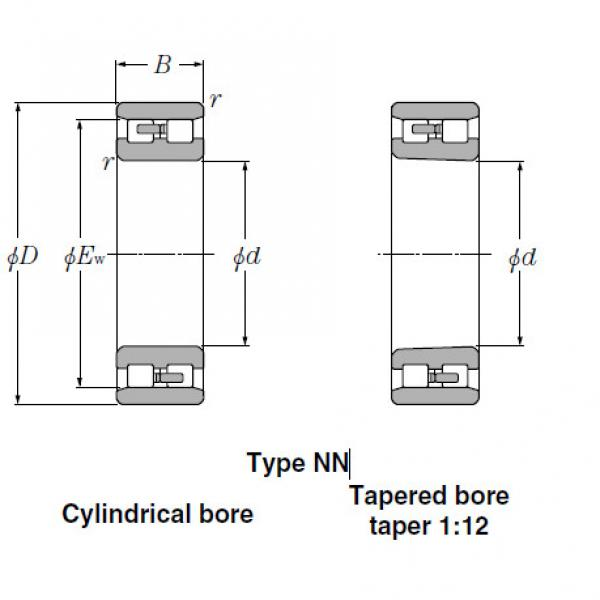 Bearings Cylindrical Roller Bearings NN3144 #2 image