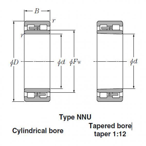 Bearings Tapered Roller Bearings NNU3022K #2 image