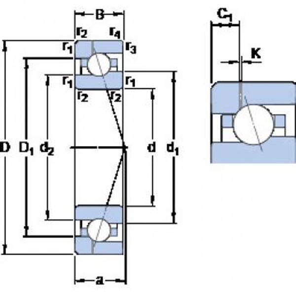 SKF S7216 ACD/P4A Angular contact ball bearings, super-precision #3 image