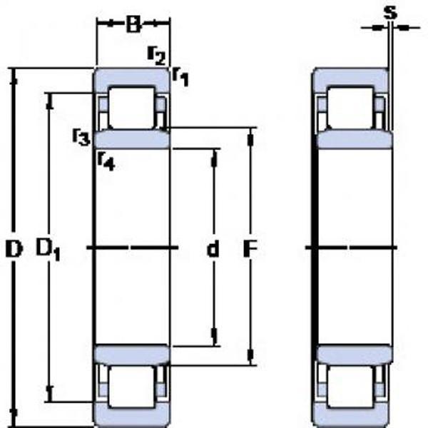 SKF S7214 CD/HCP4A Angular contact ball bearings, super-precision #4 image