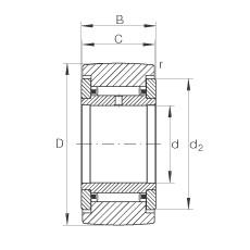 FAG نير نوع بكرات المسار - NATR30
