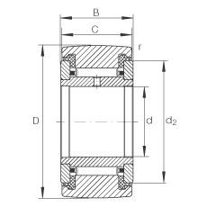 FAG نير نوع بكرات المسار - NATR30-PP