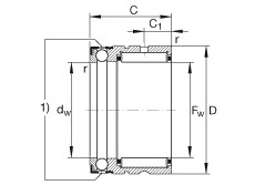 FAG إبرة بكرة / محوري الكرات - NX35-XL