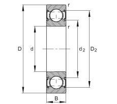FAG الأخدود العميق الكرات - 6206-C-2HRS