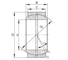 FAG Radial spherical plain bearings - GE35-DO
