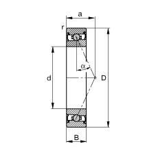 FAG محامل المغزل - HCS7007-E-T-P4S