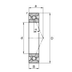 FAG محامل المغزل - HS7007-E-T-P4S