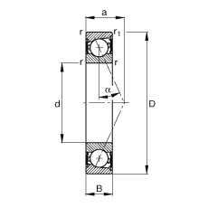 FAG محامل المغزل - B71907-E-2RSD-T-P4S