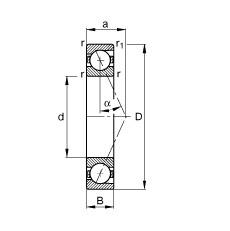 FAG محامل المغزل - B71928-E-T-P4S
