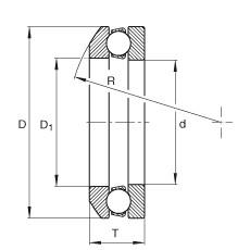 FAG محوري الأخدود العميق الكرات - 4106