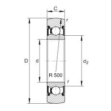 FAG بكرات الجنزير - LR206-2RS