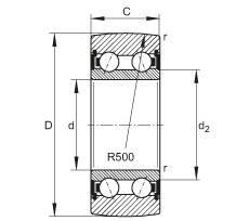 FAG بكرات الجنزير - LR5207-2HRS-TVH-XL