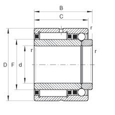 FAG إبرة الأسطوانة / الزاوي الاتصال الكرات - NKIB5907-XL