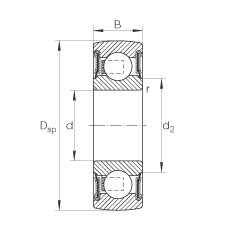FAG Self-aligning deep groove ball bearings - 206-XL-NPP-B
