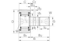 FAG مسمار نوع بكرات المسار - KR90-PP