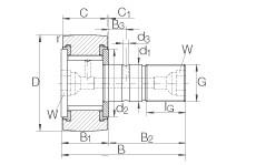 FAG مسمار نوع بكرات المسار - KRV90-PP