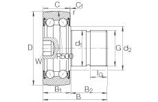 FAG مسمار نوع بكرات المسار - KR5207-2RS
