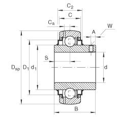 FAG شعاعي إدراج الكرات - GY1104-KRR-B-AS2/V