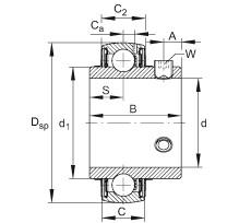 FAG شعاعي إدراج الكرات - UC206