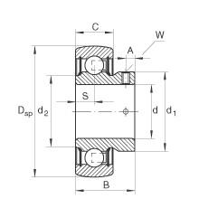 FAG شعاعي إدراج الكرات - AY30-XL-NPP-B