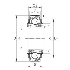 FAG شعاعي إدراج الكرات - 206-XL-KRR
