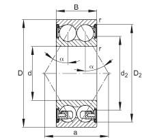 FAG الزاوي الاتصال الكرات - 3206-BD-XL-2Z-TVH