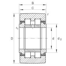 FAG نير نوع بكرات المسار - PWTR3072-2RS-XL