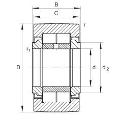 FAG نير نوع بكرات المسار - NUTR30