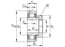 FAG شعاعي إدراج الكرات - GRA103-NPP-B-AS2/V