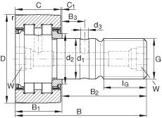 FAG مسمار نوع بكرات المسار - PWKR80-2RS-RR-XL