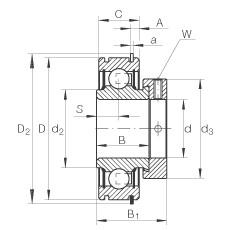 FAG شعاعي إدراج الكرات - RAE30-XL-NPP-NR