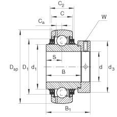 FAG شعاعي إدراج الكرات - GE30-XL-KTT-B