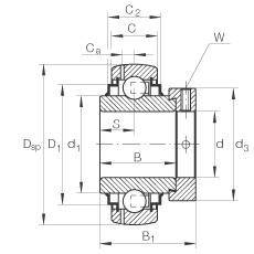 FAG شعاعي إدراج الكرات - GE30-XL-KLL-B