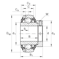 FAG شعاعي إدراج الكرات - GE30-XL-KRR-B-2C