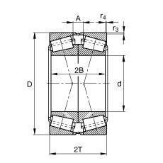 FAG تناقص الأسطوانة المحامل - 31314-A-N11CA-A100-140