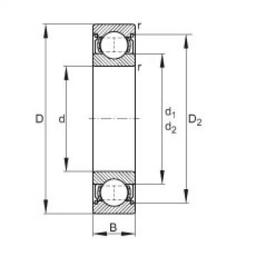 FAG الأخدود العميق الكرات - 6006-2Z