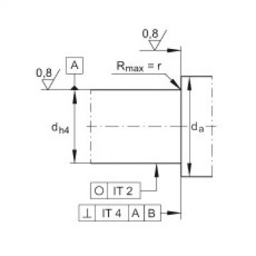 FAG محوري الزاوي الاتصال الكرات - ZKLN3062-2RS-2AP-XL