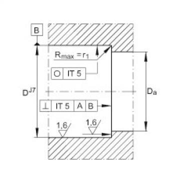 FAG محوري الزاوي الاتصال الكرات - ZKLN3062-2RS-PE