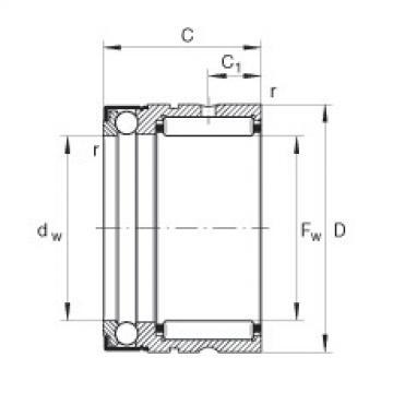 FAG إبرة بكرة / محوري الكرات - NX35-Z-XL