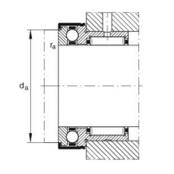 FAG إبرة بكرة / محوري الكرات - NKX30-Z-XL