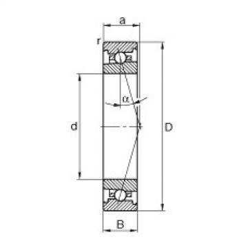 FAG محامل المغزل - HS71907-C-T-P4S