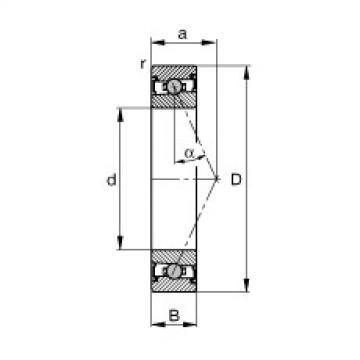 FAG محامل المغزل - HCS71907-E-T-P4S