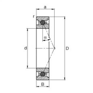 FAG محامل المغزل - HC71906-E-T-P4S