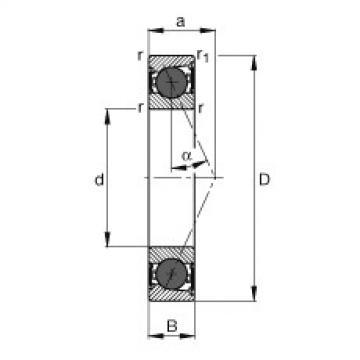 FAG محامل المغزل - HCB7206-E-2RSD-T-P4S