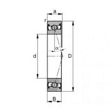 FAG محامل المغزل - HCS71907-C-T-P4S