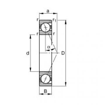 FAG محامل المغزل - B7007-E-T-P4S
