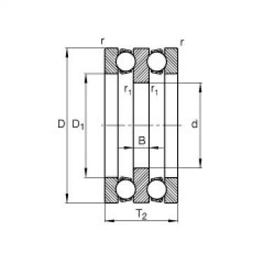 FAG محوري الأخدود العميق الكرات - 52307