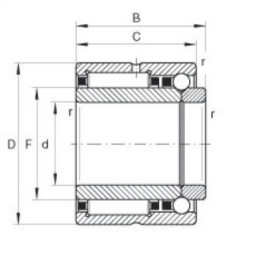 FAG إبرة الأسطوانة / الزاوي الاتصال الكرات - NKIB5906-XL